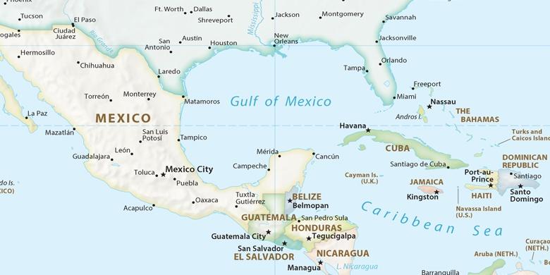 Mexiko Na Mape